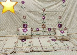 Wine color King Size Bedsheet 108× 108 Inch Soft Cotton Material